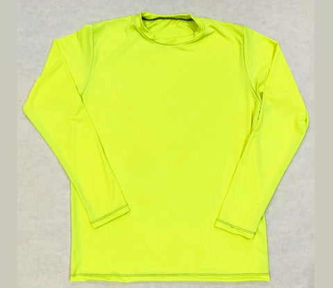 DIRTBAG LONG SLEEVE 100% Custom No Print Fluorescent Yellow