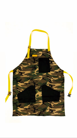 Mexican Fucking Chef Apron  - Green Camo - Yellow Straps