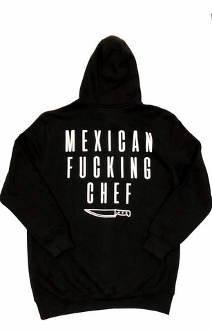 Mexican Fucking Chef  Jet Black  Premium Hoodie - Black / White