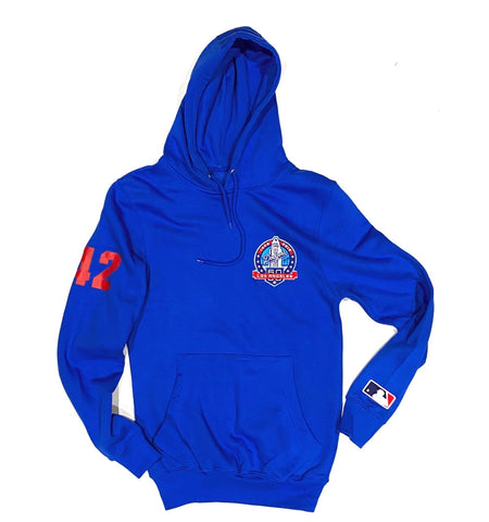 2020 Champs Royal Blue  Premium Hoodie - Frontal Patch / Red Print + Sleeve Patch