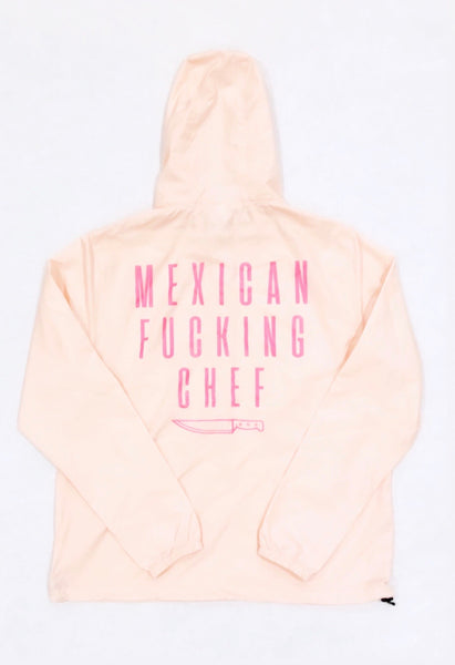 Mexican Fucking Chef Windbreaker - Pink / White Print