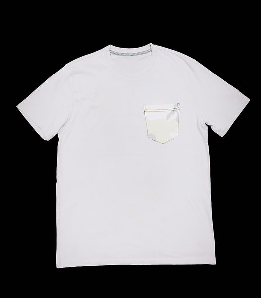 Premium Cut and Sew Off-White  Pocket Tee - Sand Camo -