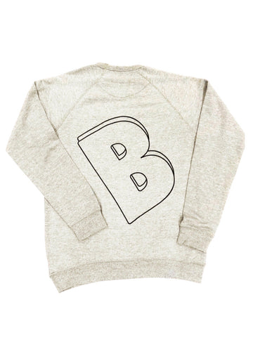BELLY Premium Crewneck Cool Gray    - Black Print