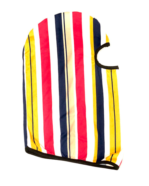 DIRTBAG Skimask Dustmask SandMask   - Striped Mustard, Pink Navy Blue - Black Accents