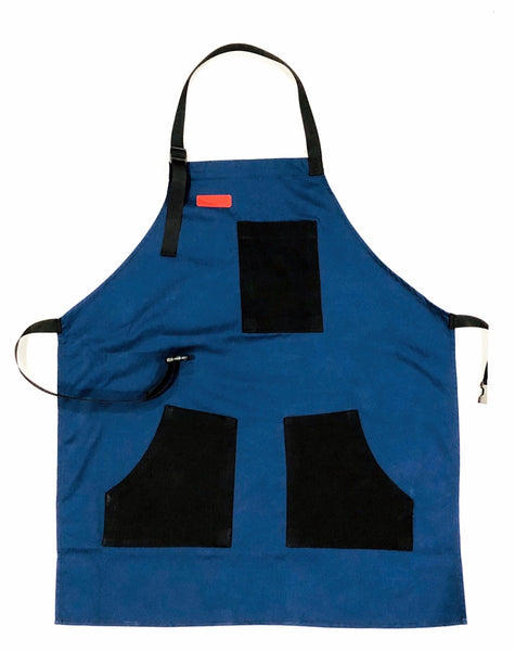 Mexican Fucking Chef Apron  - Royal / Black/ Red Accents   -