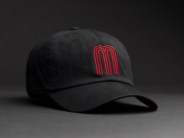 M Red Black Dad Hat