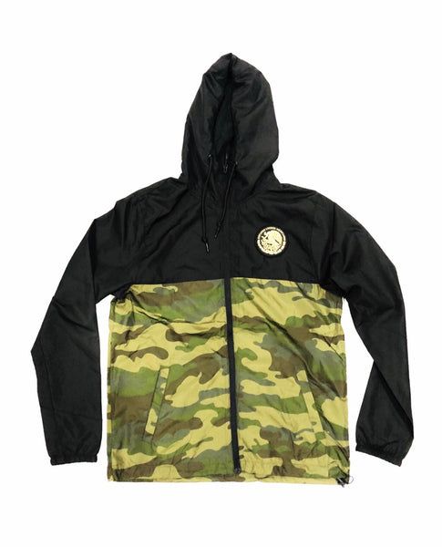 Mexico Classic Light Weight Track Jacket - Two Tone Black/Camo