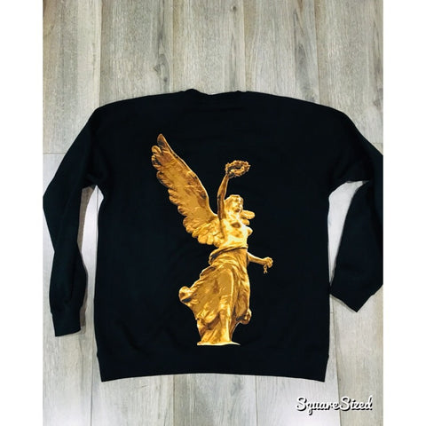 El Angel Crewneck - Black / Gold Print