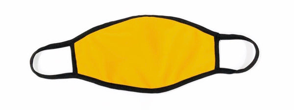 Cloth  Face Mask Bright Yellow  - Black Strap -