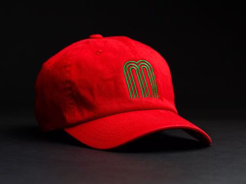 M Green/ Red Dad Hat