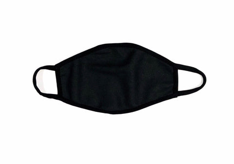 Cloth Face Mask Solid Fiber Black