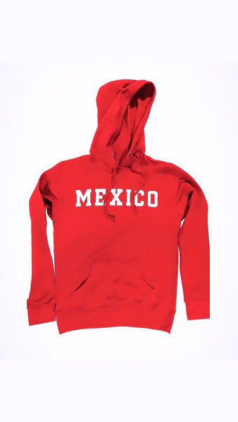 Women's Mexico Red Hoodie With WHITE PRINT