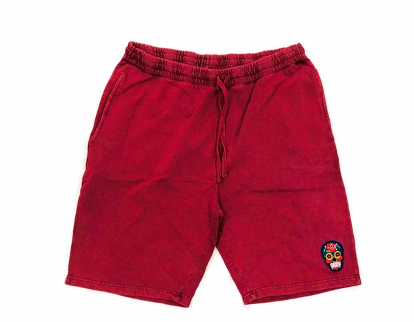Wine Calavera Black Tech Short Embroidery Felt Multicolor Patch