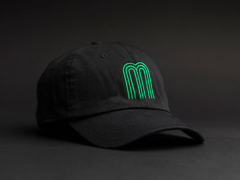 M Green Black Dad Hat