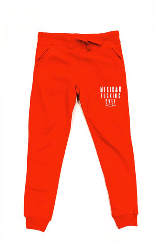 Mexican Fucking Chef Red Tech Jogger W/ White Print