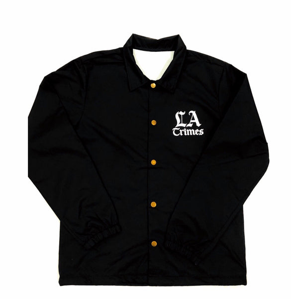 Jet Black  Los Angeles Crimes Nylon Button Jacket