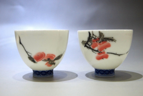 Fancai Chinese Tea Cups by Mud and Leaves