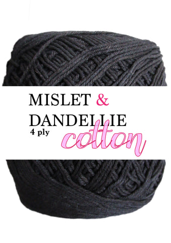 Cotton 4 ply in Black