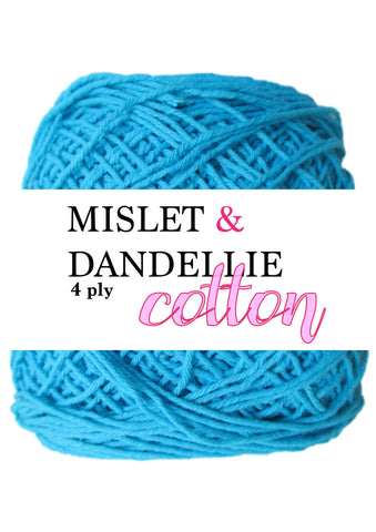 Cotton 4 ply in Blue
