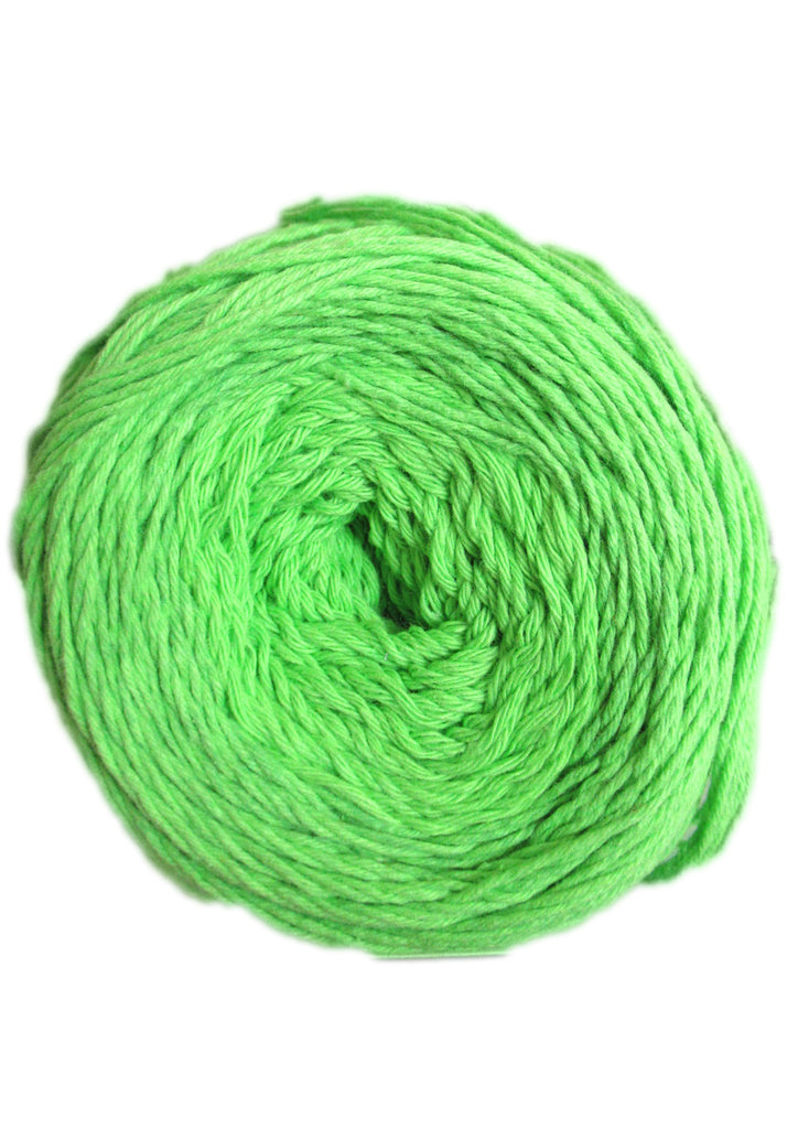Cotton 4 ply in Bright Green
