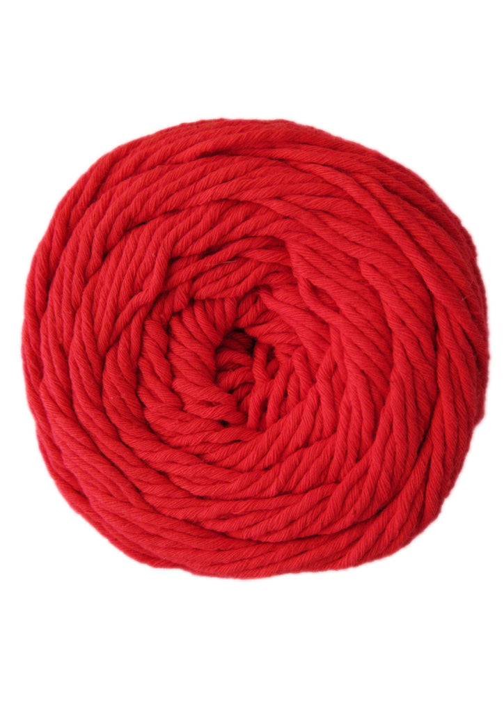 Cotton 100gr 8ply in Bright Red