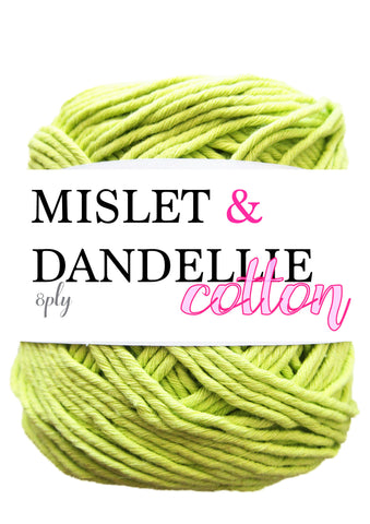 Cotton 100gr 8ply in Lime