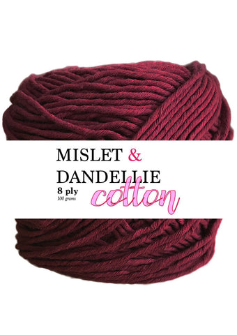 Cotton 8ply in Maroon