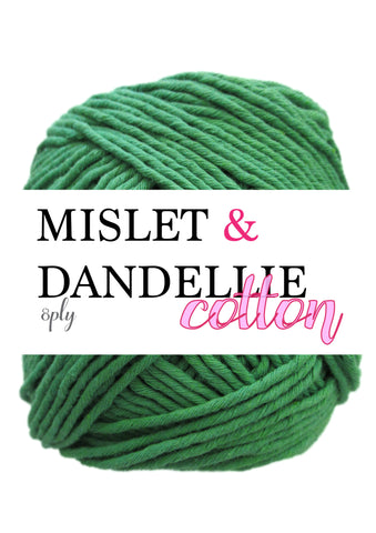 Cotton 100gr 8ply in Moss Green