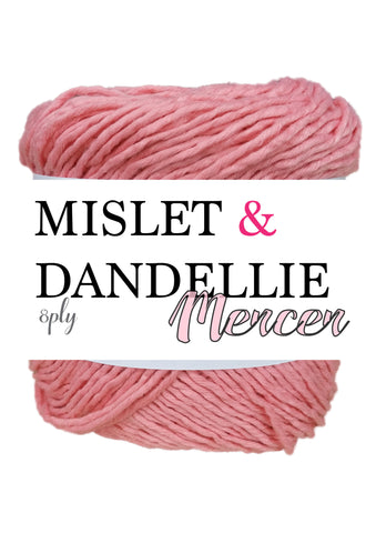 Merceri 100 gr 8 ply in Warm Pink