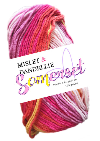 Somerset 8ply in FieryPink