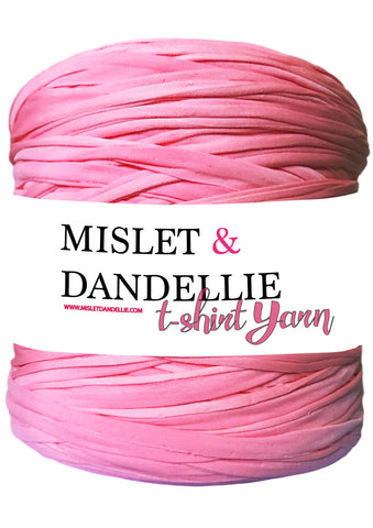 T-shirt Yarn in Barbie Pink