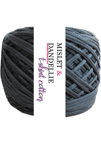 T-shirt Yarn in Charcoal Black
