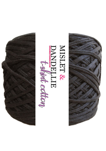T-shirt Yarn in Jetblack