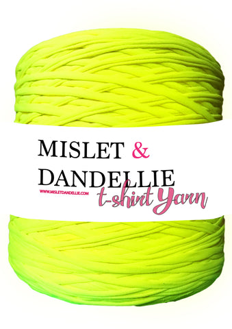 T-shirt Yarn in Neon Lime