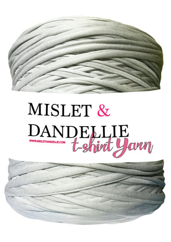 T-shirt Yarn in Silver Grey