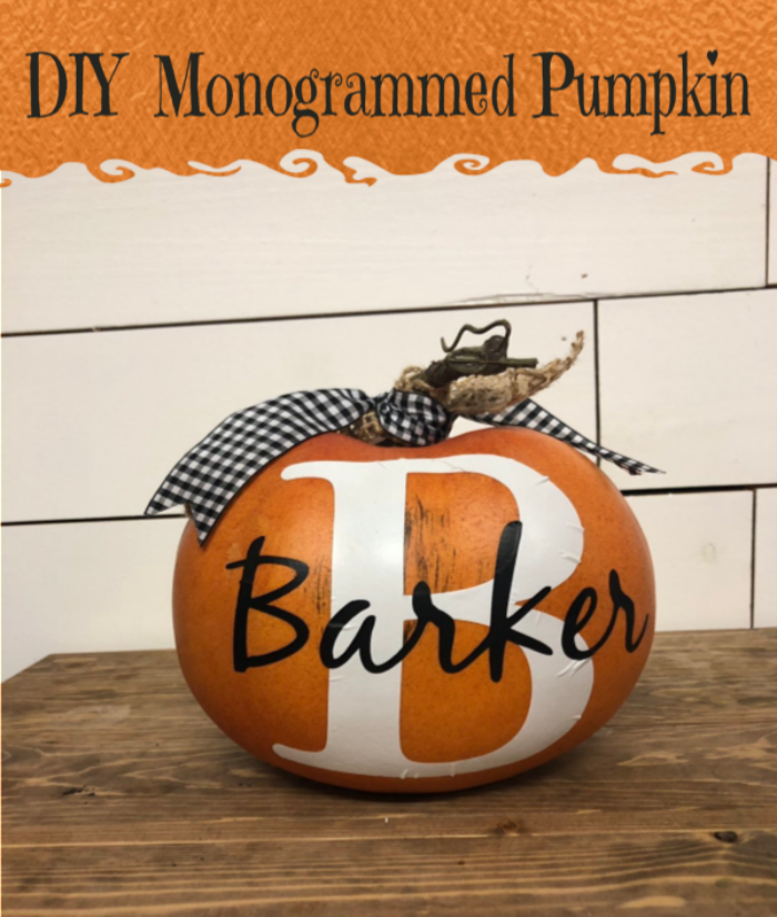 Monogram Pumpkins
