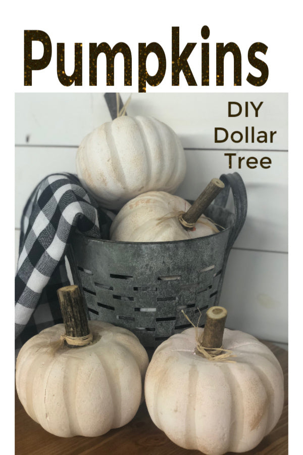 Dollar Store DIY Pumpkin Makeover