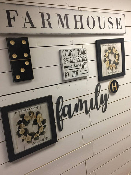 Domino Sign-Gallery Wall Decor-Custom Sign-Family Sign