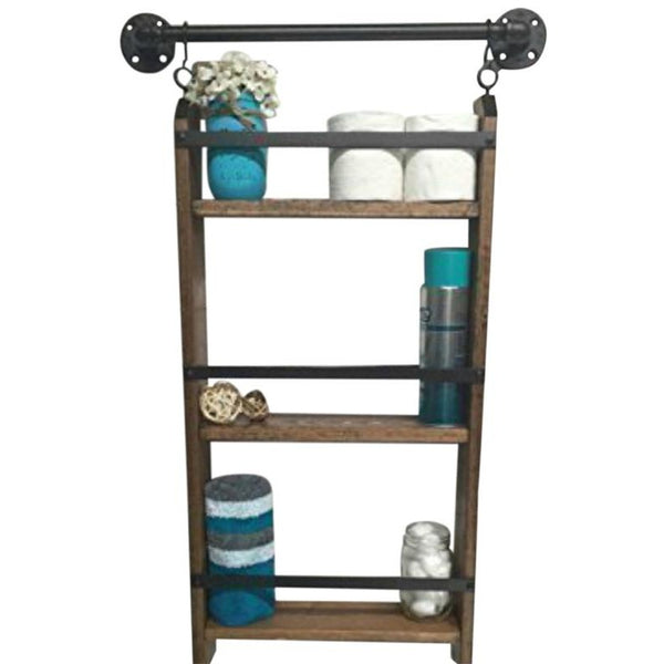 Bathroom ladder shelf - rustic bathroom shelf - Farmhouse Shelf