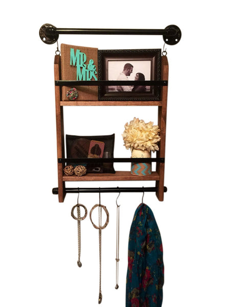 Rustic Jewelry Organizer- Wall Jewelry Holder