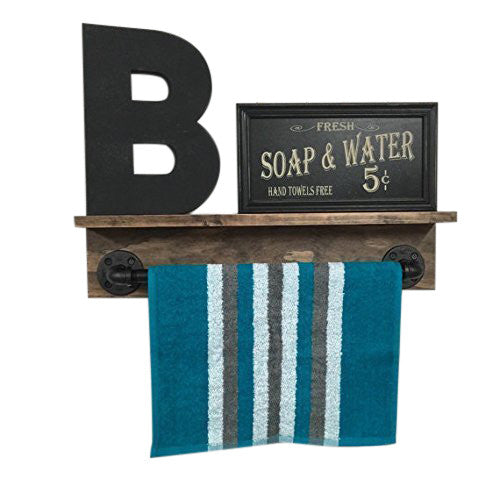 Rustic Towel Rack- rustic bathroom decor