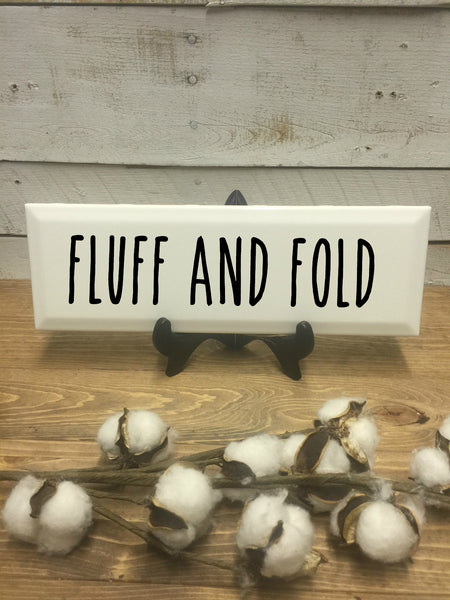 Fluff and Fold Sign-Farmhouse Signs-Home and Living-Rustic