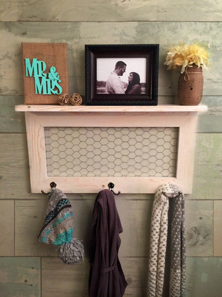 Rustic Home Decor- key hook- coat rack