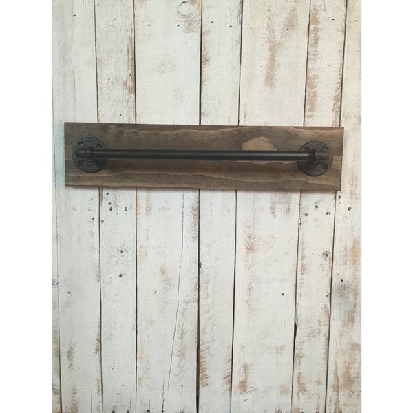 Bath towel holder - rustic towel bar - rustic bathroom towel bar