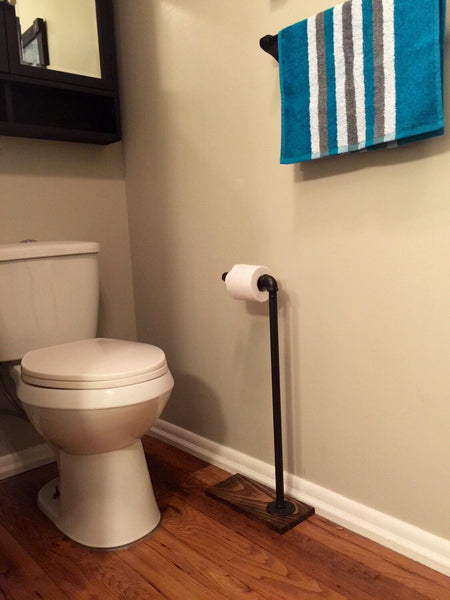 Industrial Toilet Paper Stand -Rustic Bathroom Accessory