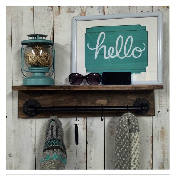 Rustic shelf- industrial pipe shelf