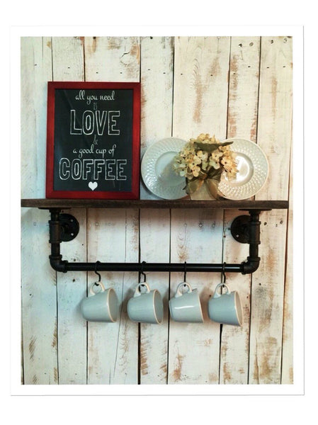 Industrial kitchen shelf - Rustic kitchen shelves