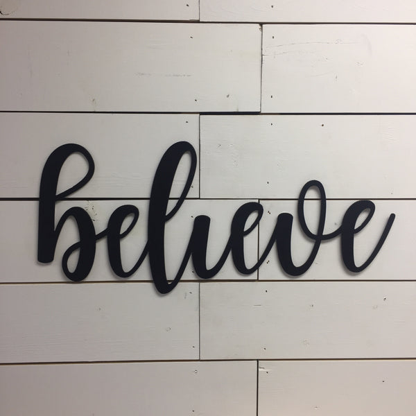 Believe Sign-Believe-Inspirational Sign-Wood Believe Sign