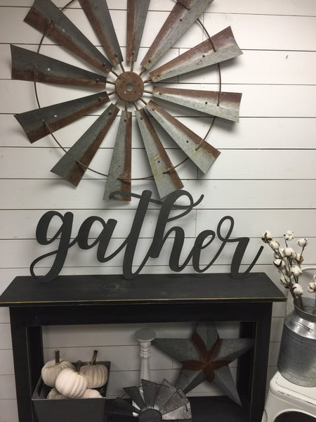 Wood Gather Sign-Gather Sign-Gather-Farmhouse Decor