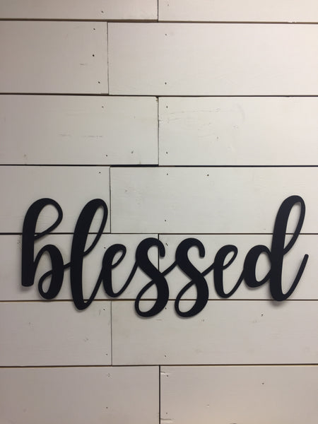Blessed Wood Sign-Wood Wall Art-Blessed Sign-Wood Blessed Sign
